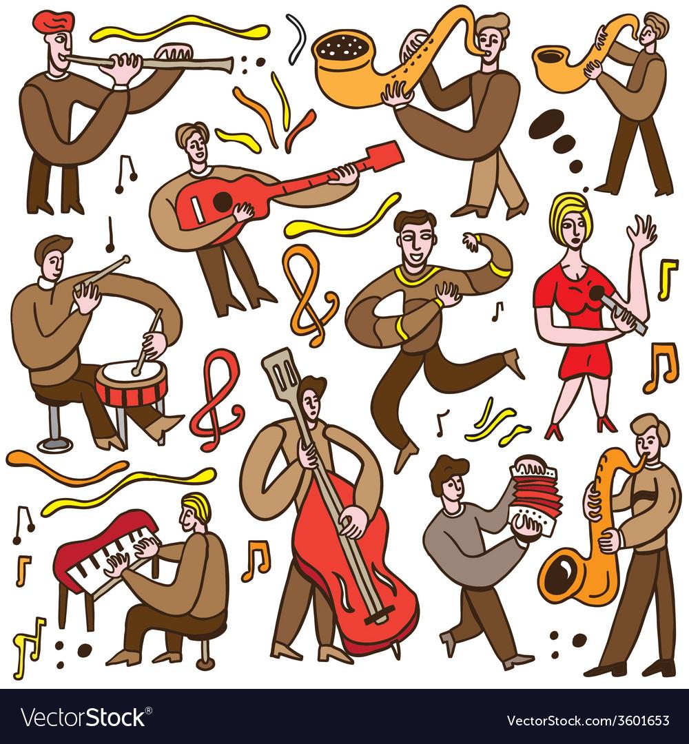 Musicians - cartoons set vector | Price: 1 Credit (USD $1)