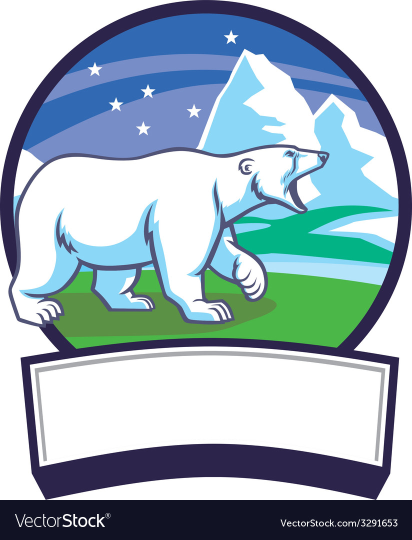 Polar bear and ice nature background vector | Price: 3 Credit (USD $3)