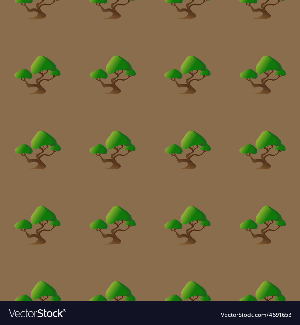 Seamless pattern with abstract bonsai for your vector   Price: 1 Credit (USD $1)