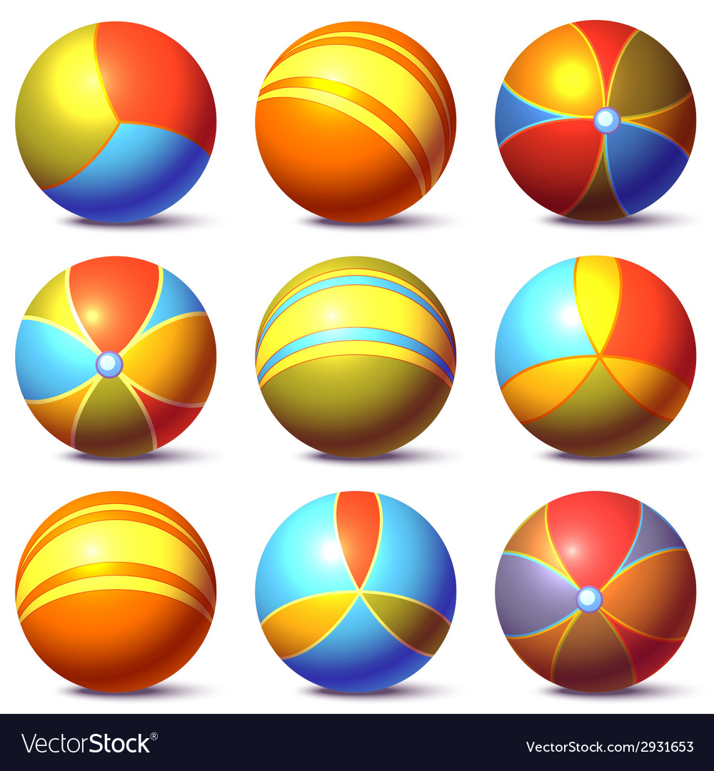 Set of children balls vector | Price: 1 Credit (USD $1)