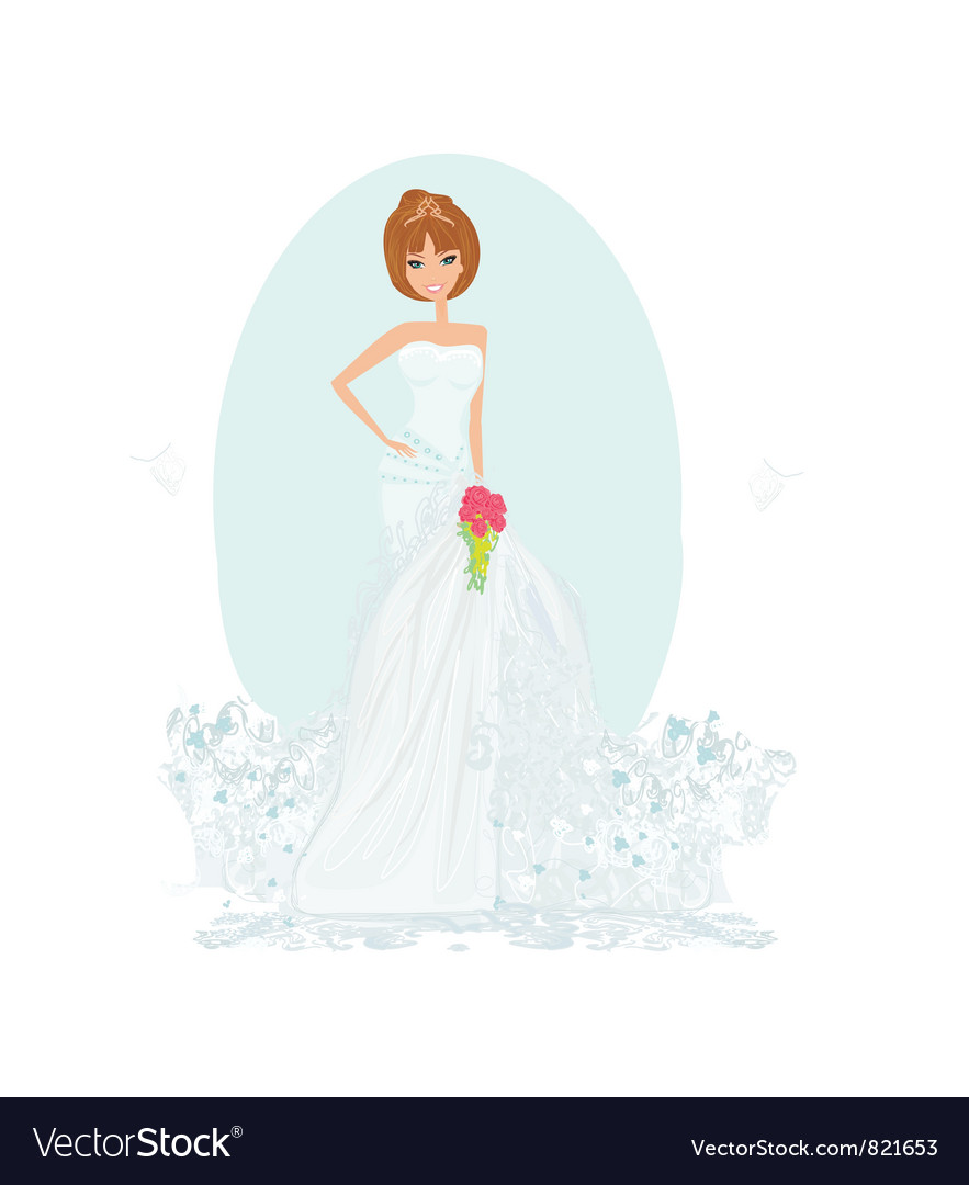 Wedding bride vector | Price: 1 Credit (USD $1)