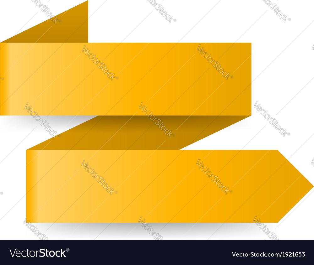 Yellow paper arrow vector | Price: 1 Credit (USD $1)
