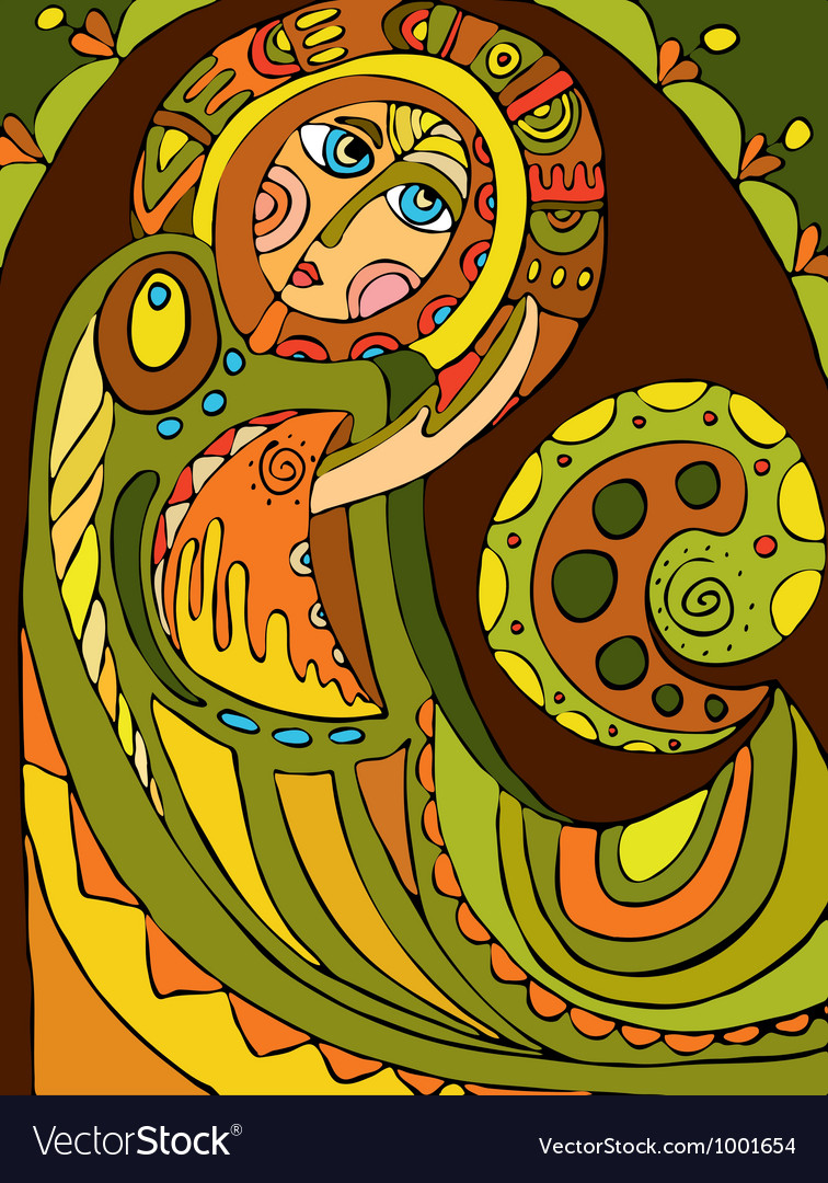 Abstract angel vector   Price: 1 Credit (USD $1)
