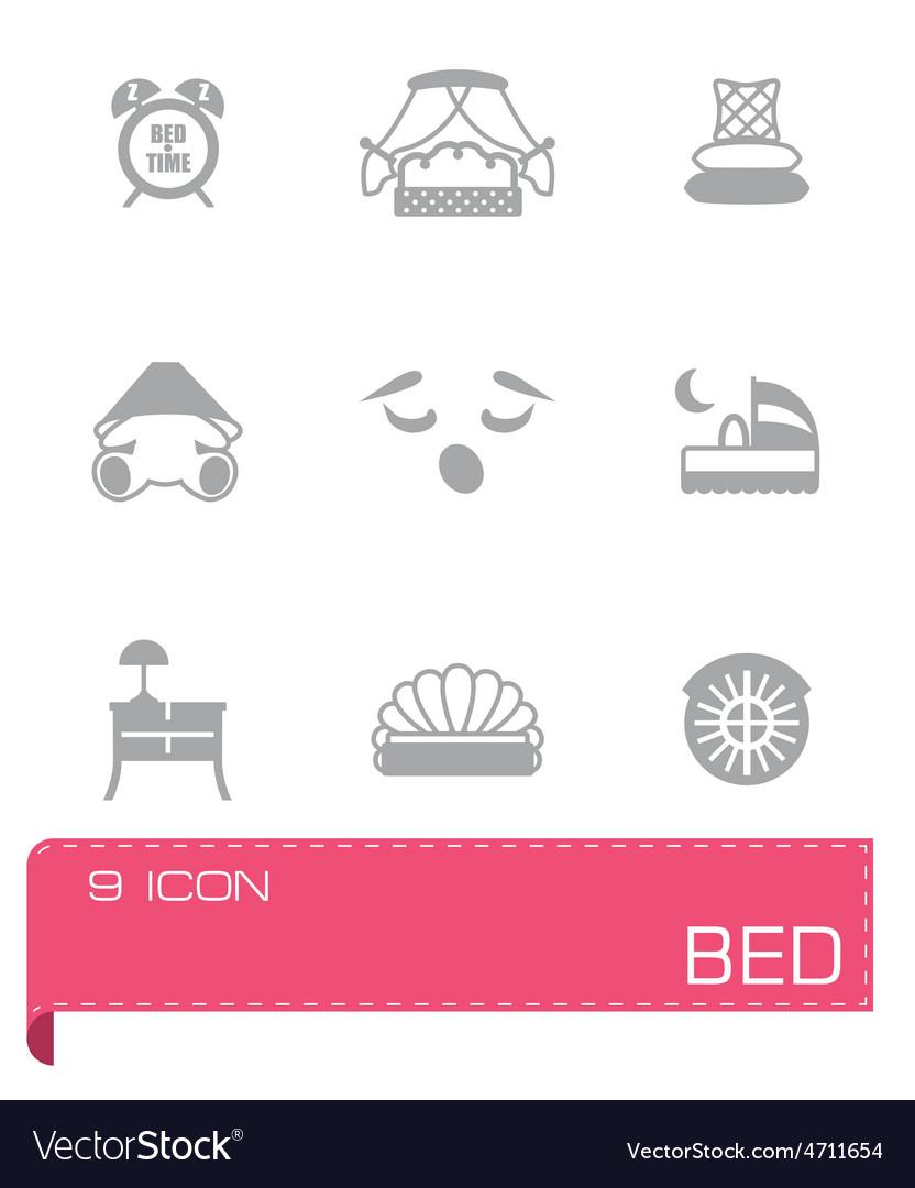 Bed icon set vector | Price: 1 Credit (USD $1)