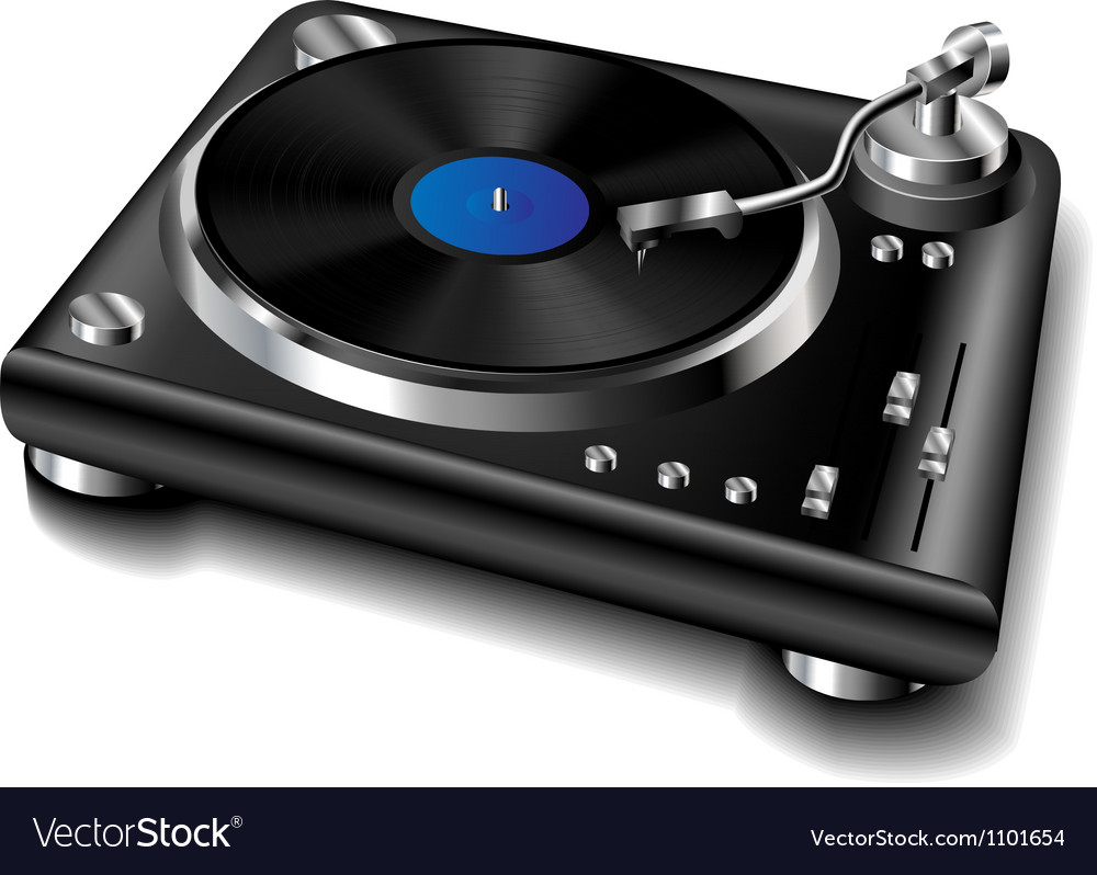 Black turntable vector | Price: 1 Credit (USD $1)