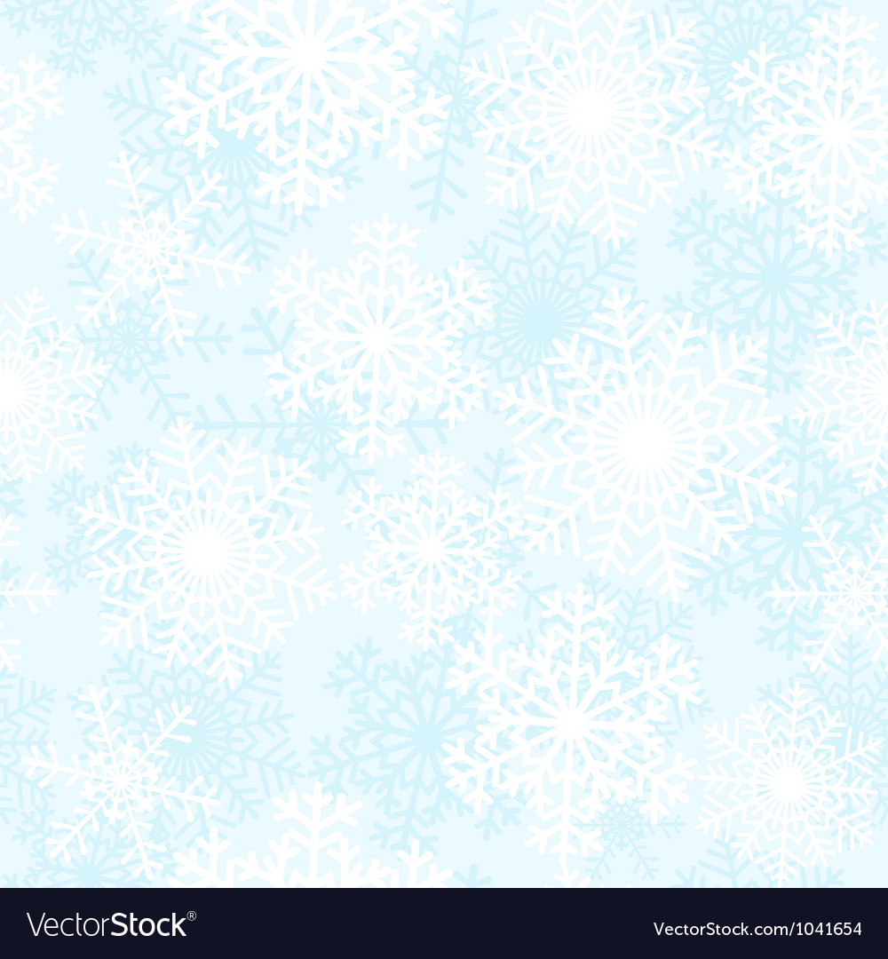 Blue and white snowflakes background vector | Price: 1 Credit (USD $1)