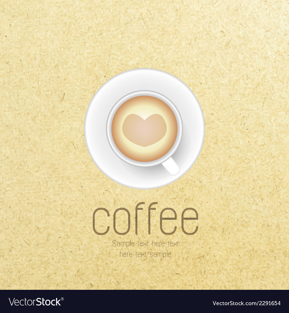 Coffee cup against paper background vector | Price: 1 Credit (USD $1)