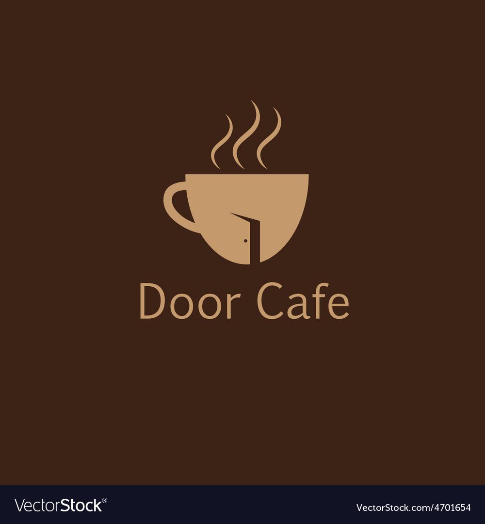 Door cafe design template vector | Price: 1 Credit (USD $1)