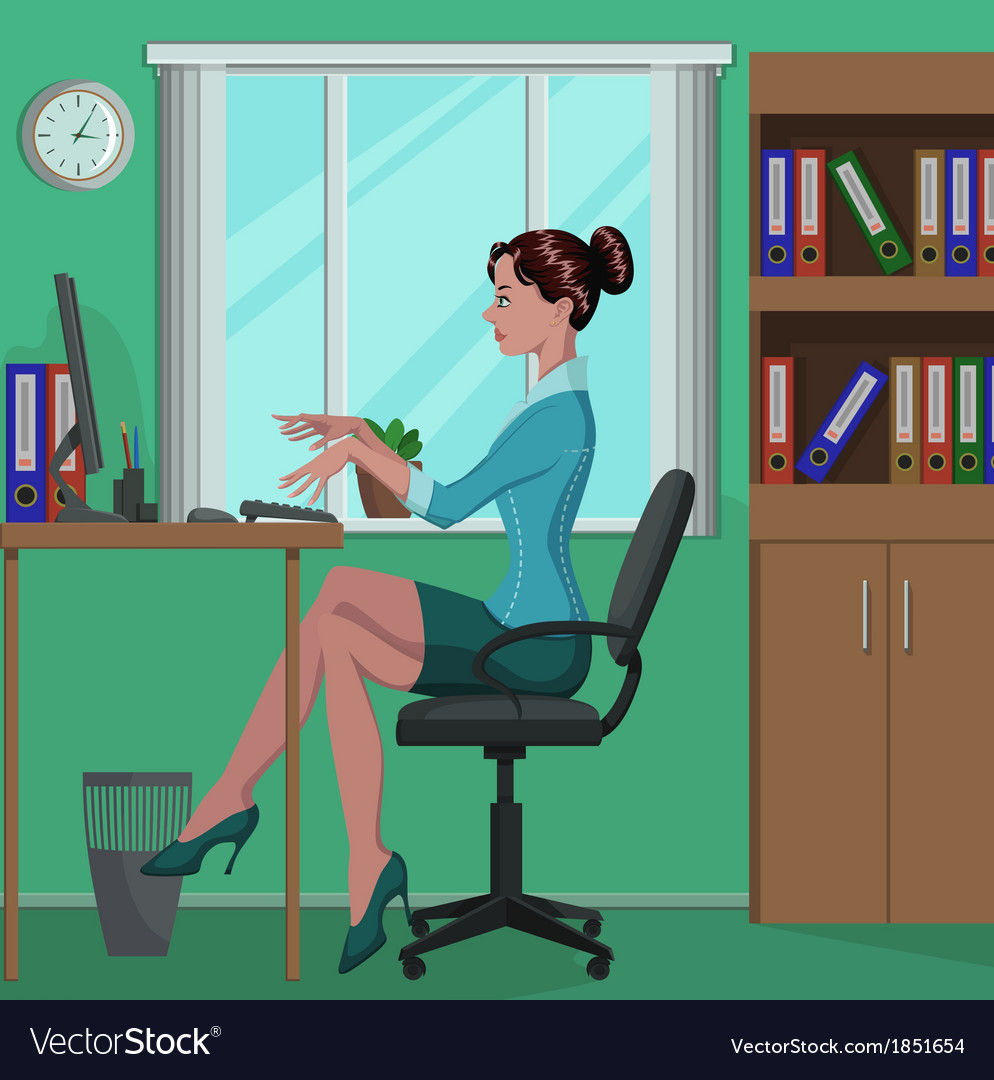 Office work vector | Price: 5 Credit (USD $5)