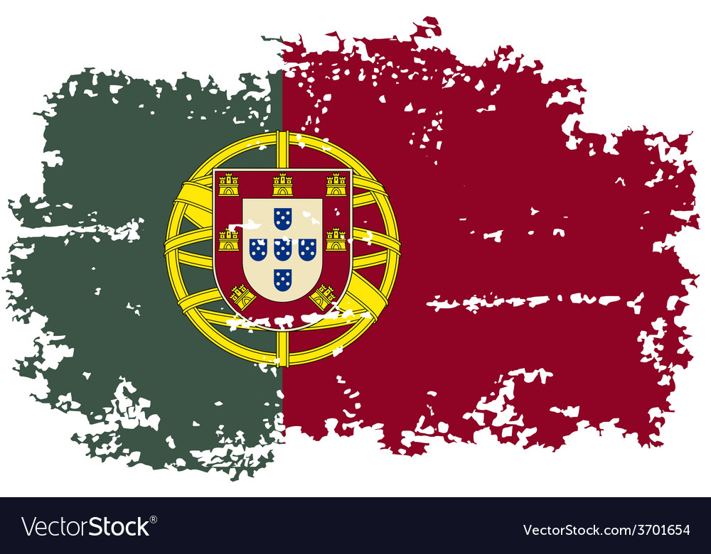 Portugal grunge flag vector | Price: 1 Credit (USD $1)