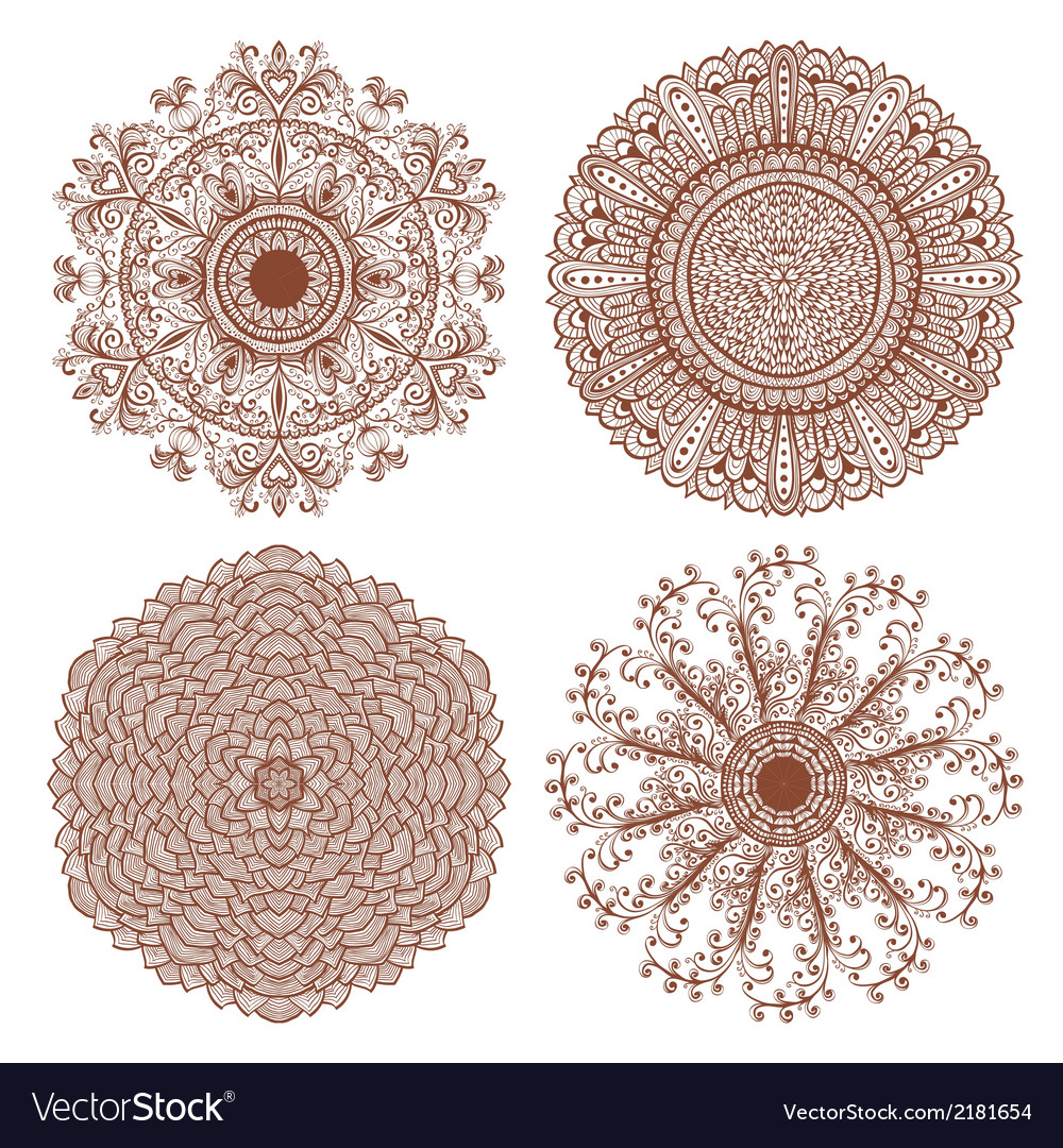 Set of four hand drawn ornaments vector   Price: 1 Credit (USD $1)