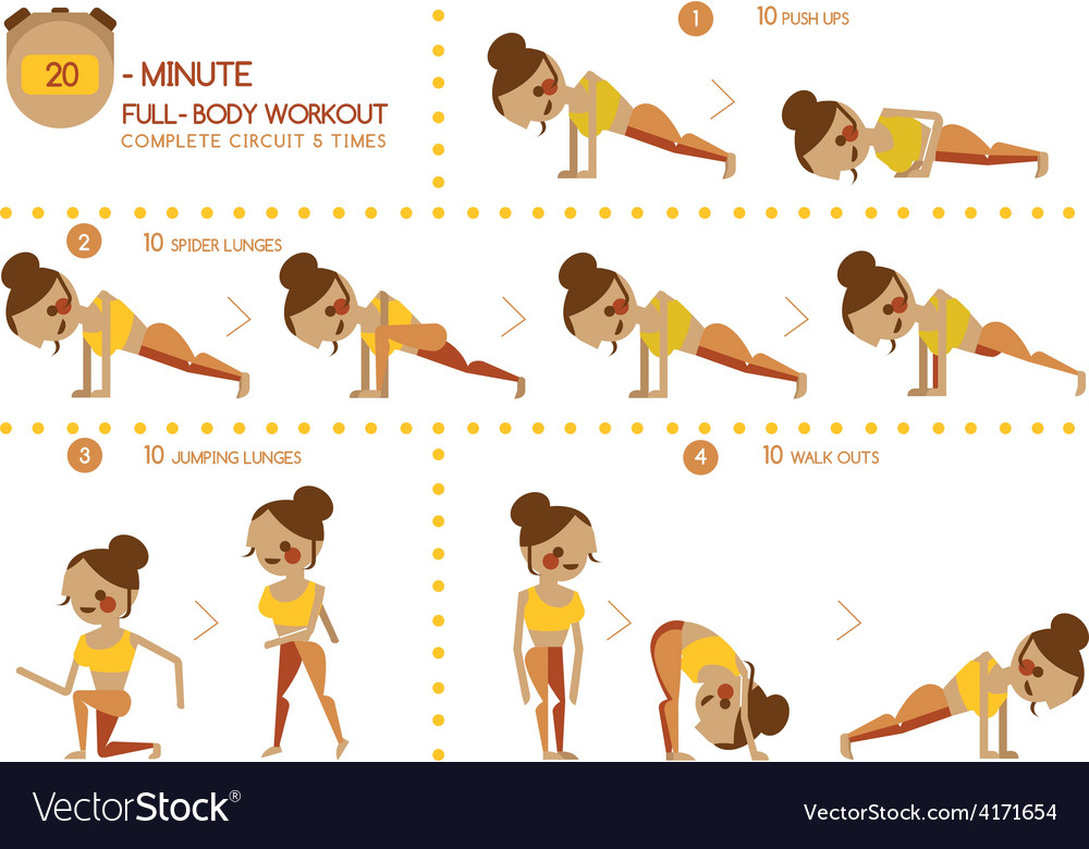 Twenty minute full body workout vector | Price: 1 Credit (USD $1)