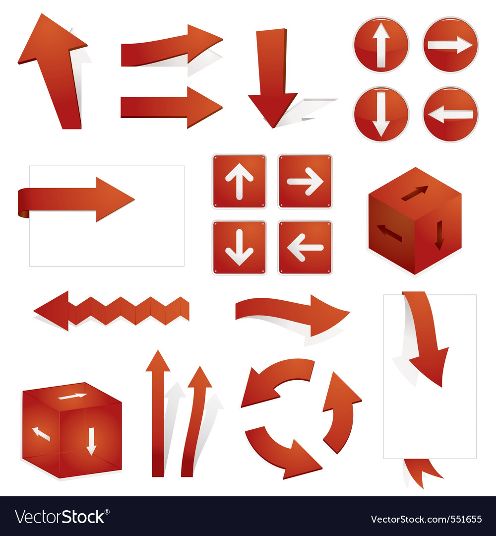 Directional arrows vector | Price: 1 Credit (USD $1)