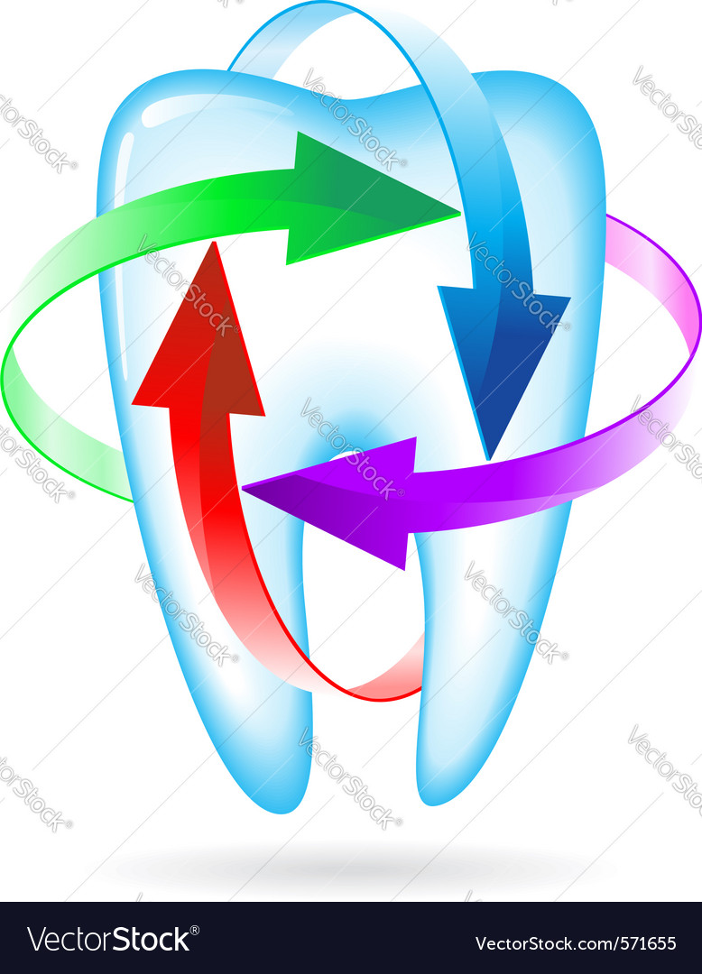 Fluoride tooth protection vector | Price: 1 Credit (USD $1)