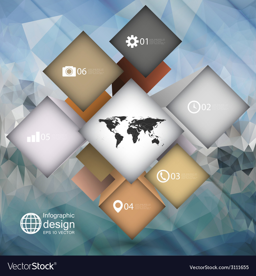 Infographic cube box for business concepts modern vector | Price: 1 Credit (USD $1)