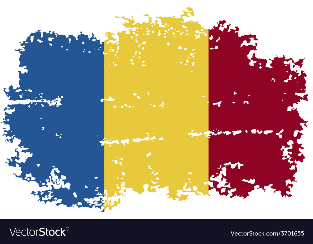 Romanian grunge flag vector | Price: 1 Credit (USD $1)