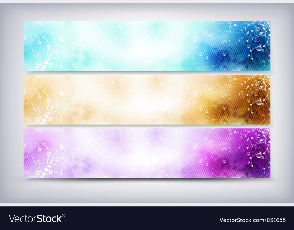 Set web headers vector | Price: 1 Credit (USD $1)