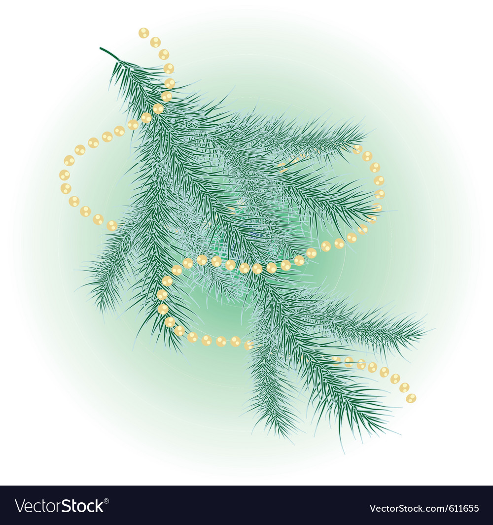Snow-covered christmas tree vector | Price: 1 Credit (USD $1)