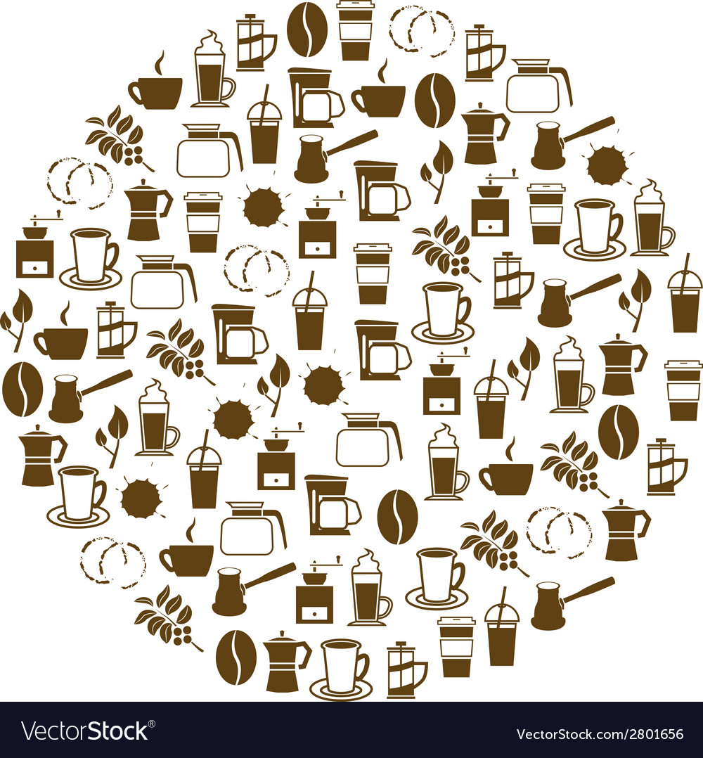 Coffee icon in circle vector | Price: 1 Credit (USD $1)