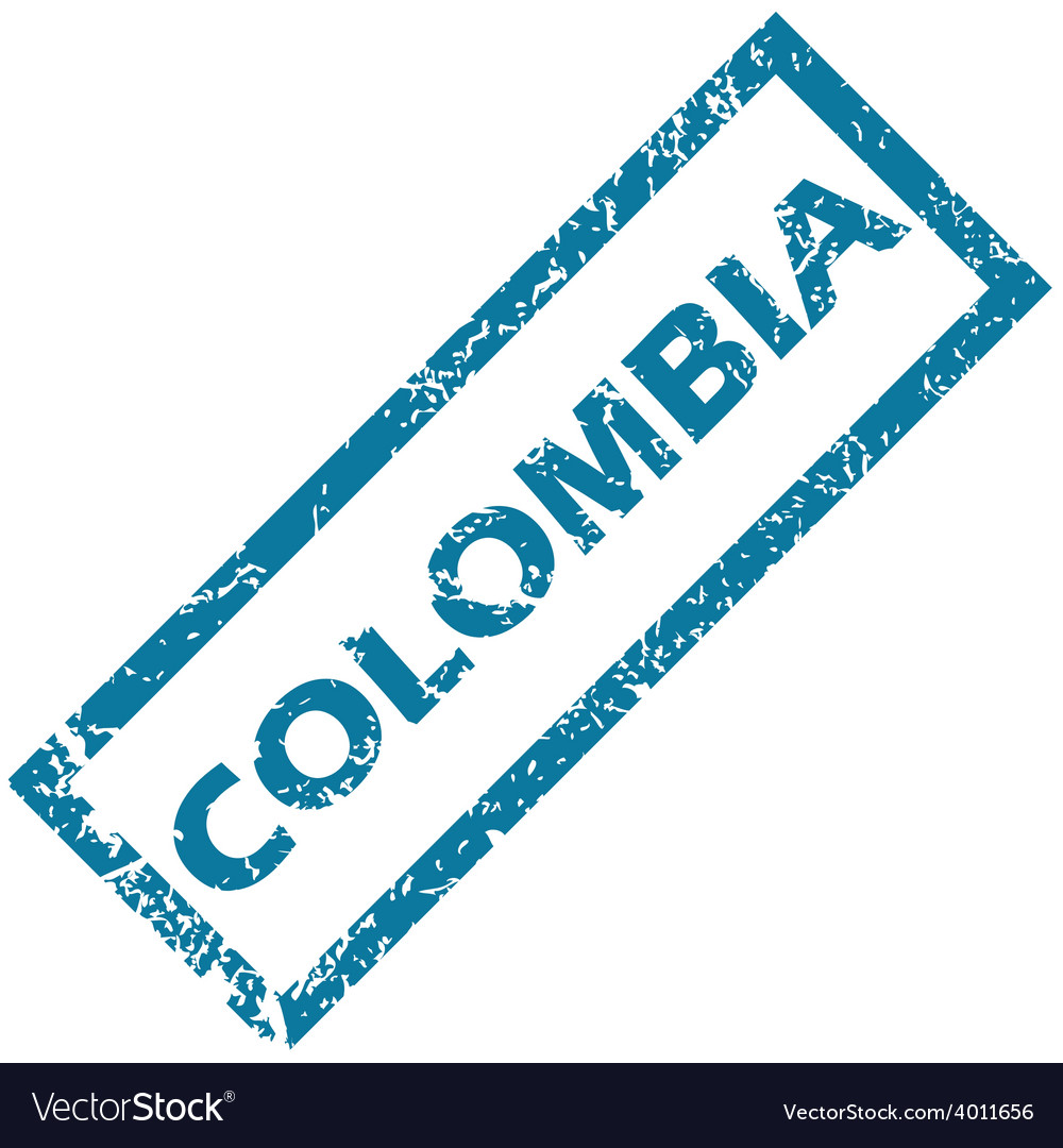 Colombia rubber stamp vector | Price: 1 Credit (USD $1)