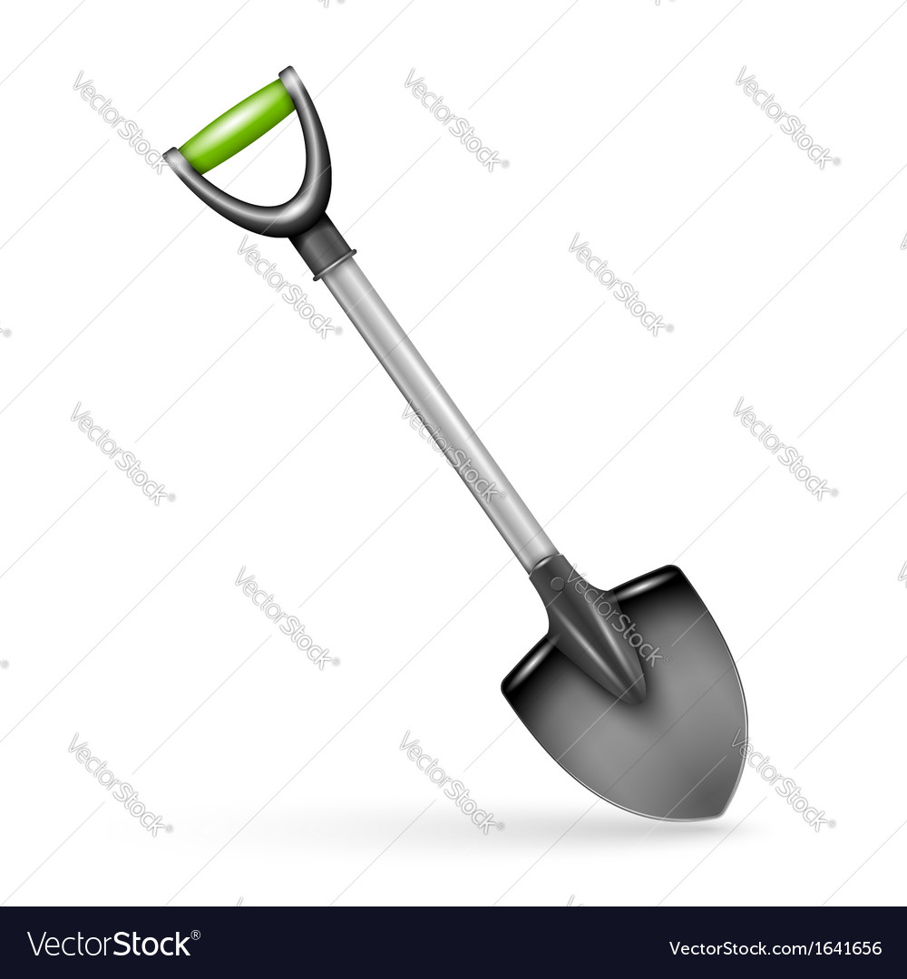 Garden spade isolated on white background vector | Price: 1 Credit (USD $1)