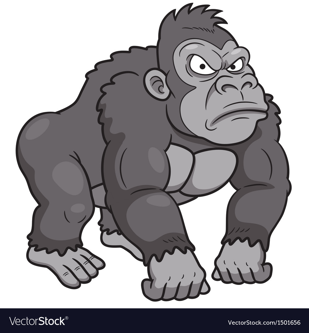Gorilla vector | Price: 3 Credit (USD $3)
