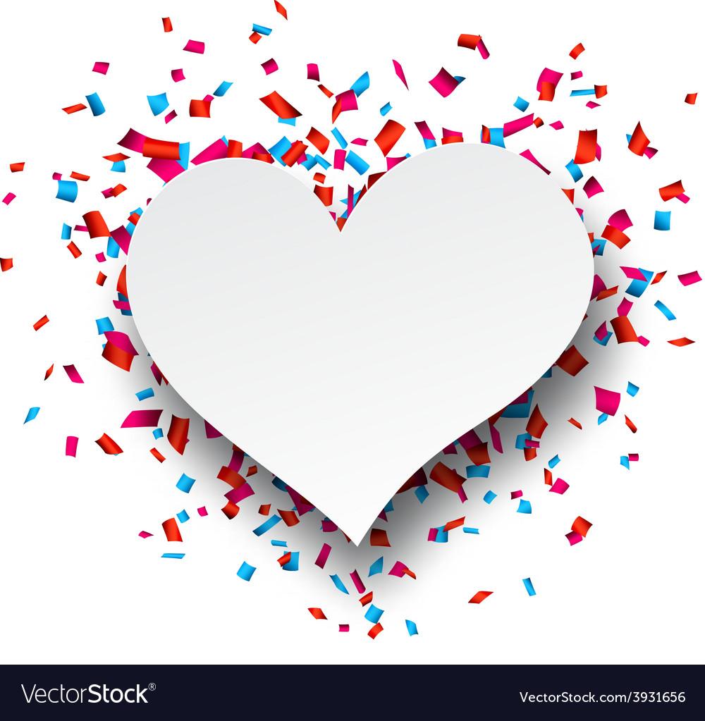 Paper heart love confetti sign vector | Price: 1 Credit (USD $1)