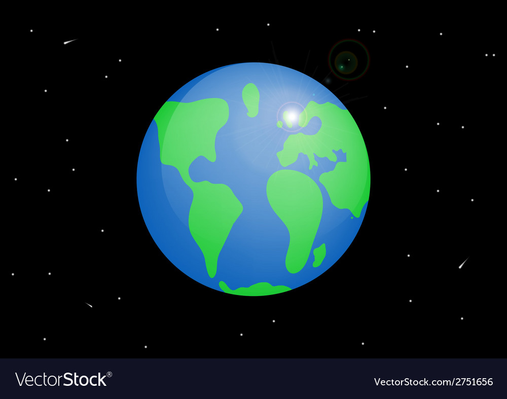 Planet earth cartoon vector | Price: 1 Credit (USD $1)