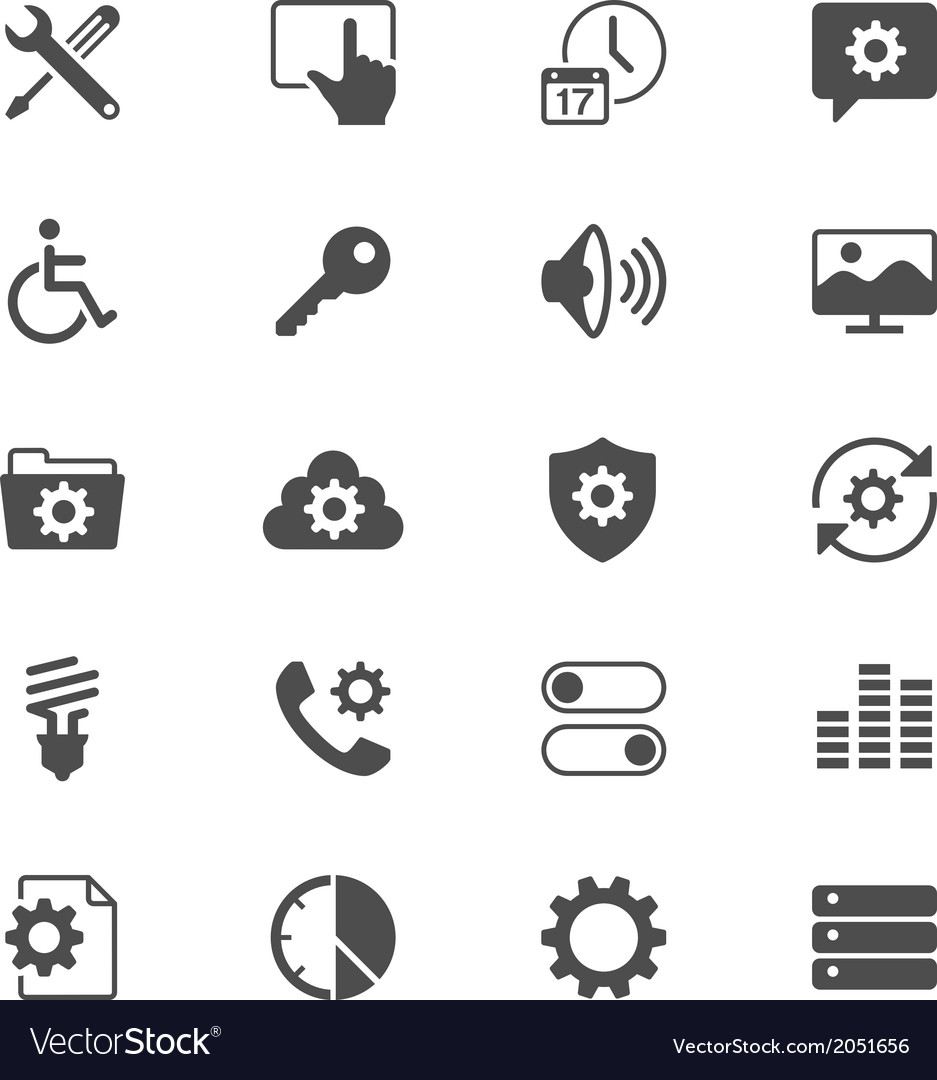 Setting flat icons vector | Price: 1 Credit (USD $1)