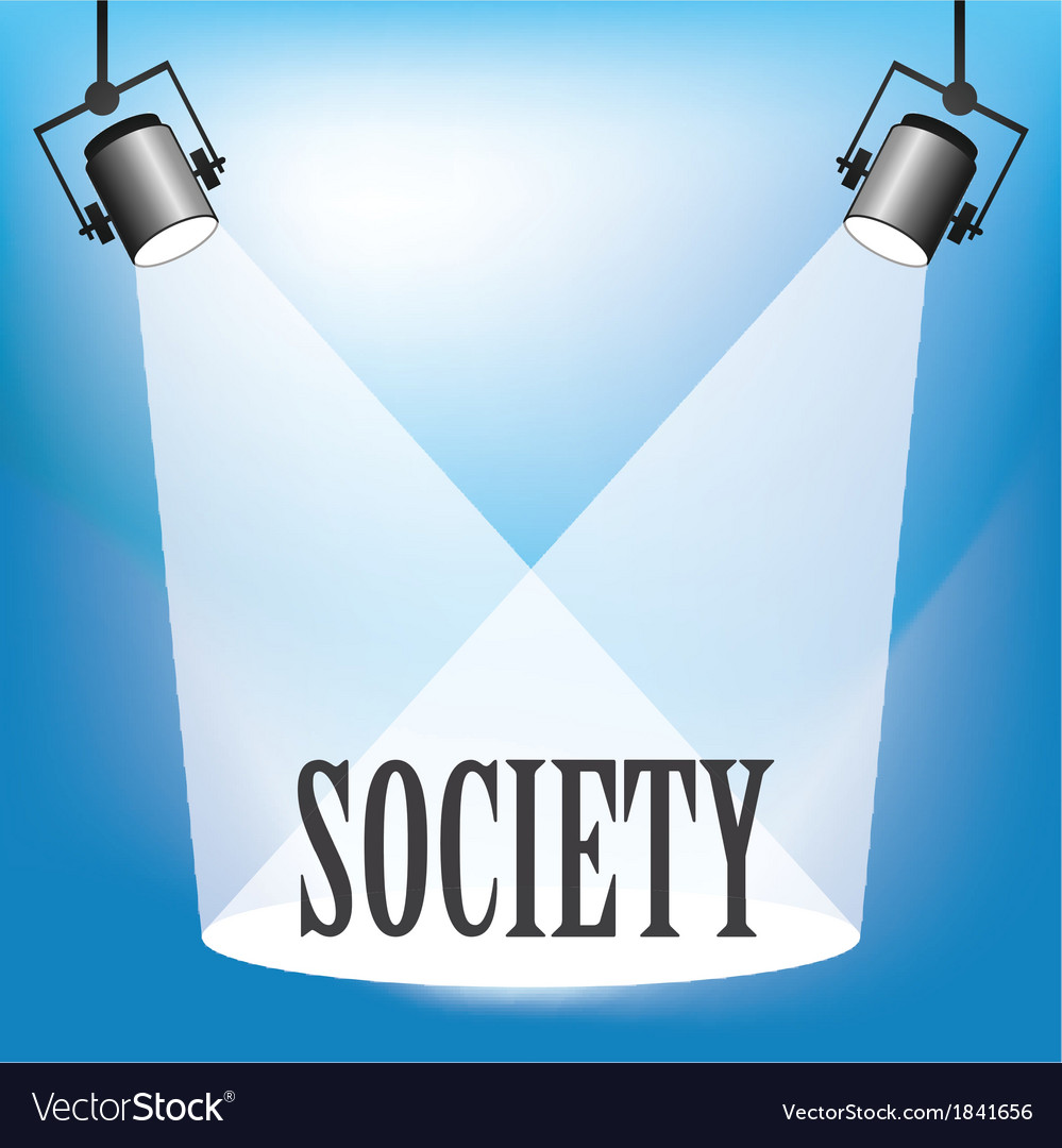 Spotlight society vector | Price: 1 Credit (USD $1)