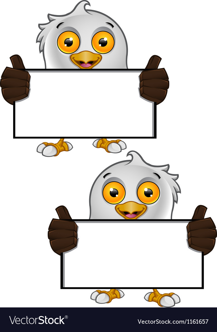 Bald eagle character 2 vector