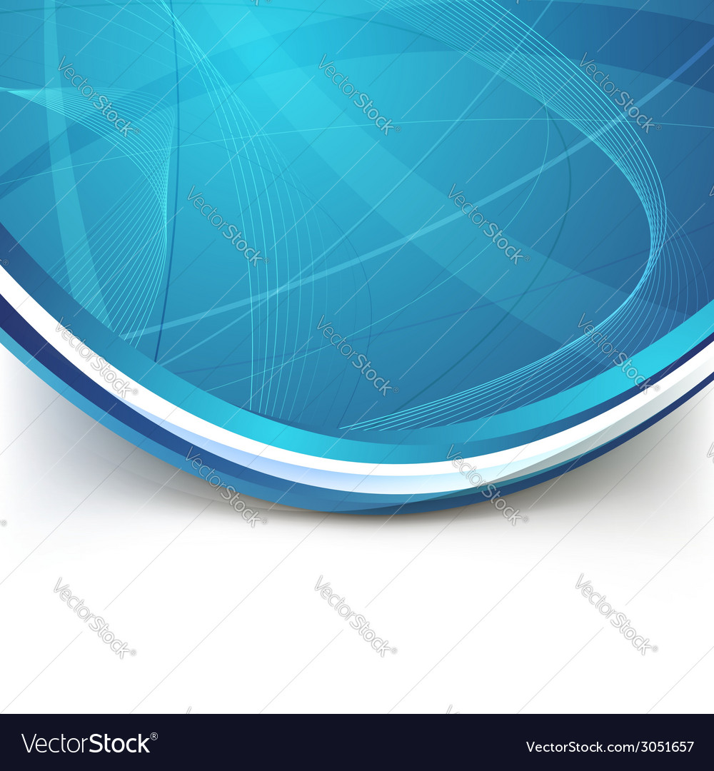 Blue border swoosh wave line modern background vector | Price: 1 Credit (USD $1)