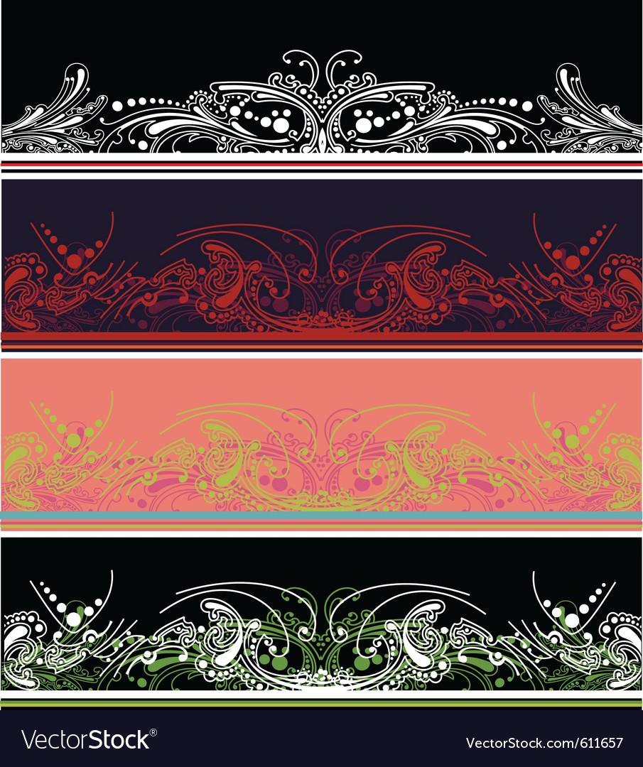 Border design elements vector | Price: 1 Credit (USD $1)