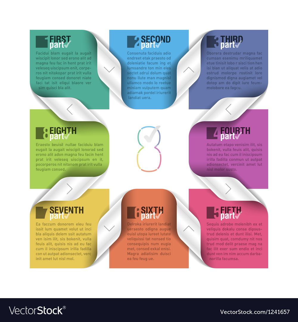Eight parts cycle design template vector | Price: 1 Credit (USD $1)