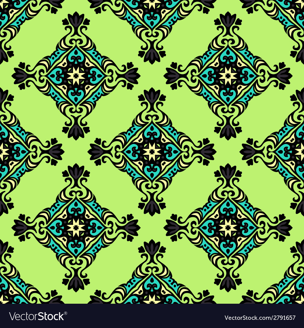 Green geometric seamless abstract vector | Price: 1 Credit (USD $1)