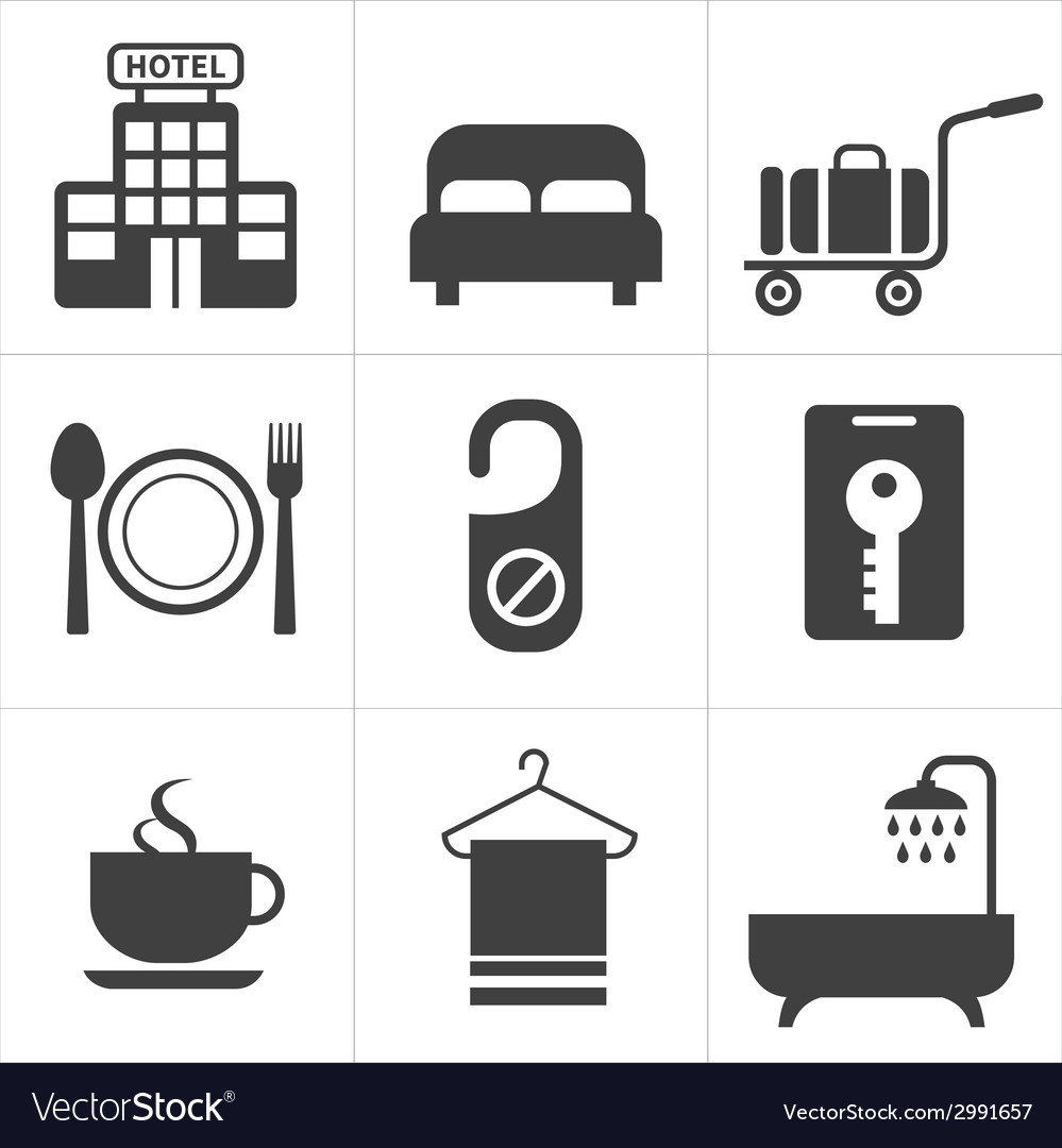 Hotel and hotel services icon vector | Price: 1 Credit (USD $1)
