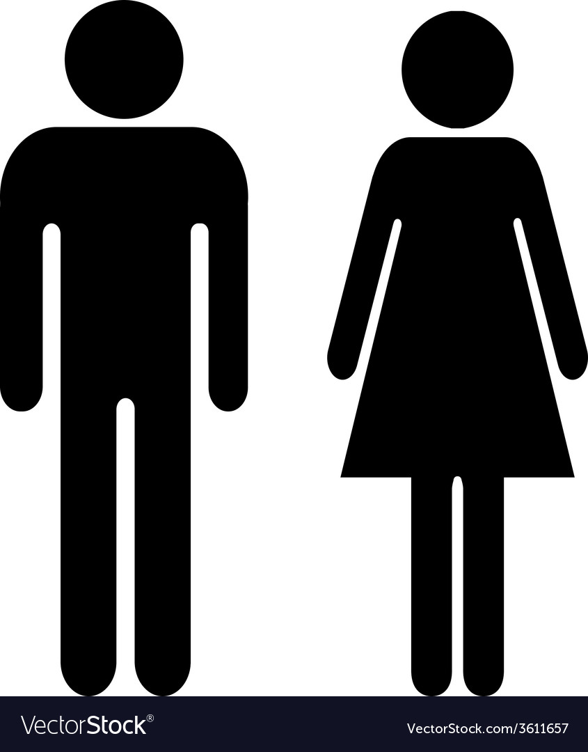 Man and woman sign vector | Price: 1 Credit (USD $1)