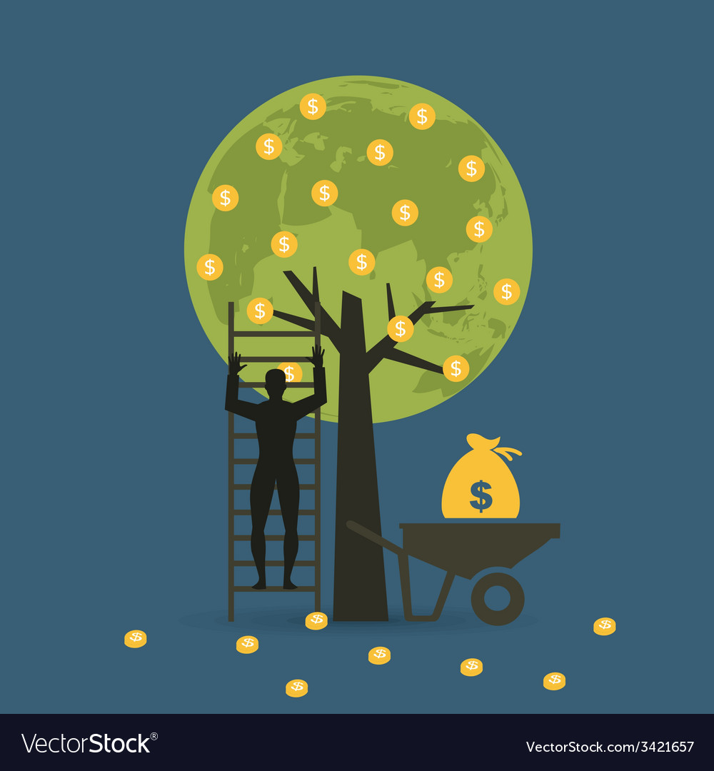 Money tree 2 vector | Price: 1 Credit (USD $1)