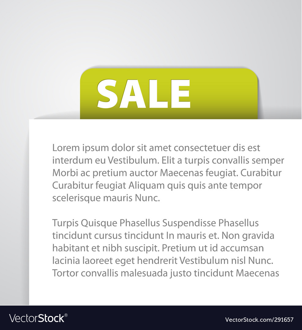 Sale tag foreign text vector | Price: 1 Credit (USD $1)