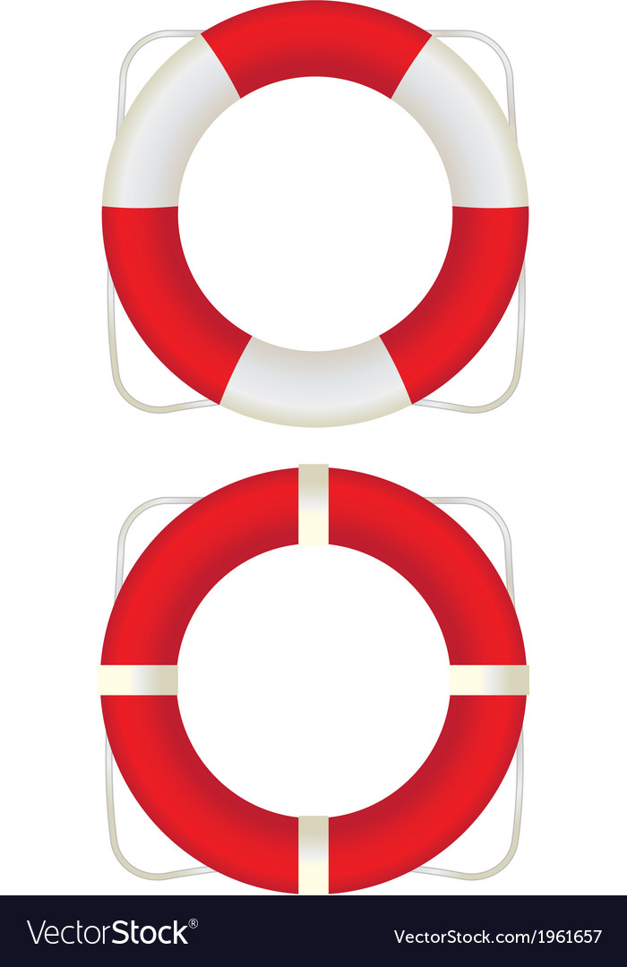 Two lifesavers vector | Price: 1 Credit (USD $1)