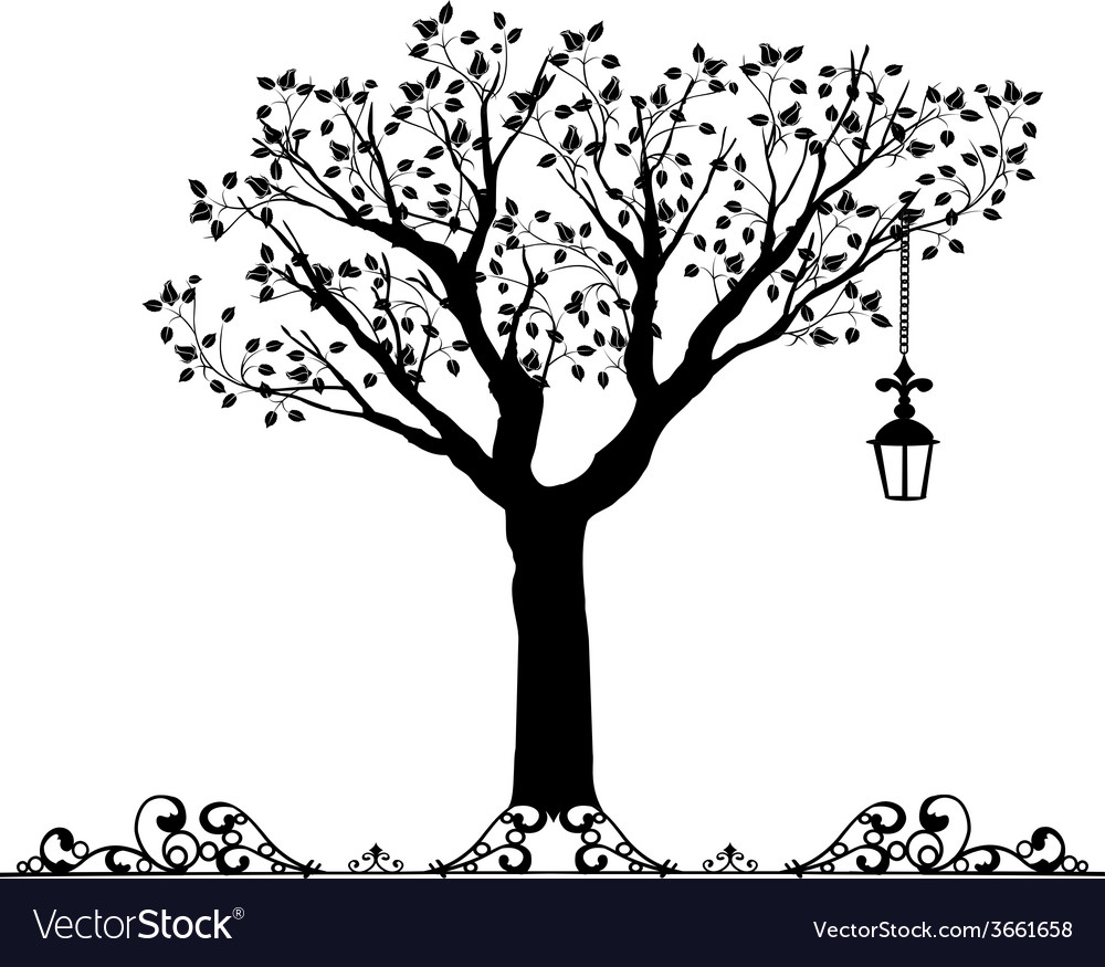 Antique ornament of a tree vector | Price: 1 Credit (USD $1)