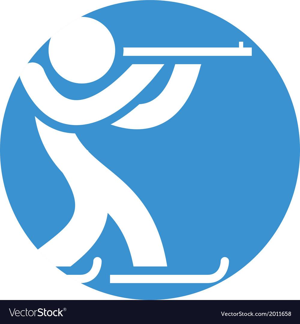 Biathlon icon vector | Price: 1 Credit (USD $1)