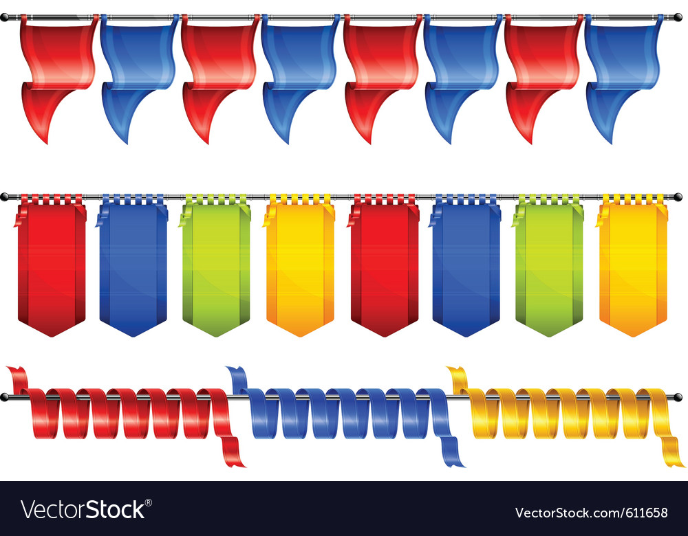 Celebration flags vector | Price: 1 Credit (USD $1)
