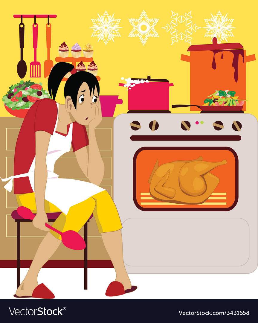 Cooking for holidays vector | Price: 1 Credit (USD $1)