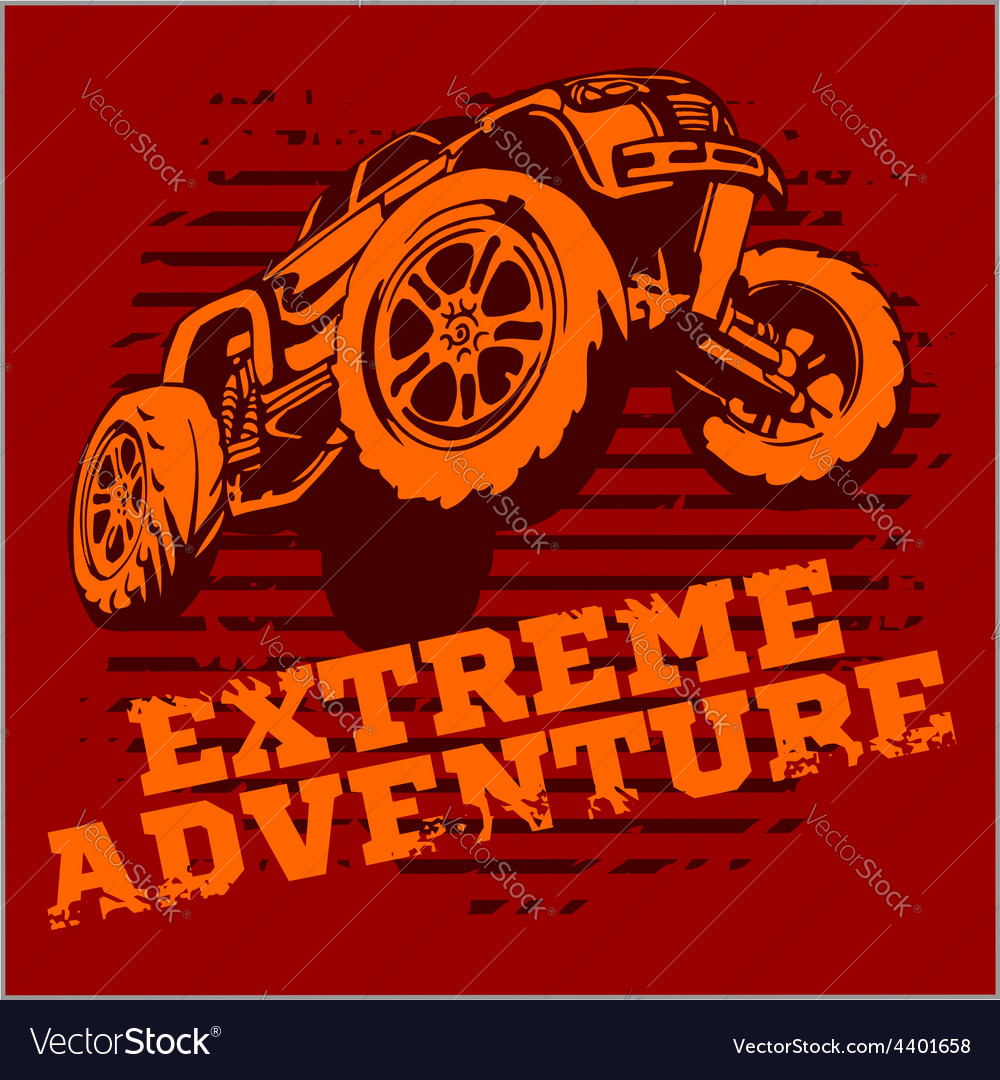 Emblem with off-road cars vector | Price: 3 Credit (USD $3)