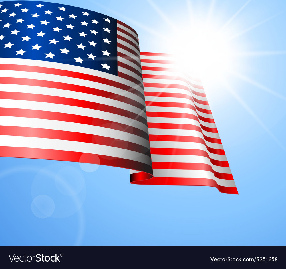 Flag of the united states vector | Price: 1 Credit (USD $1)