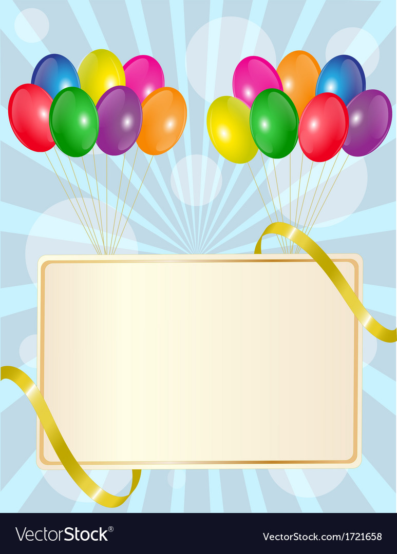 Greeting sign with balloons vector | Price: 1 Credit (USD $1)