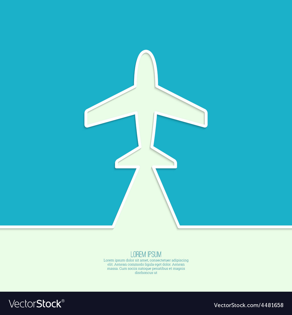 Icon airplane vector | Price: 1 Credit (USD $1)