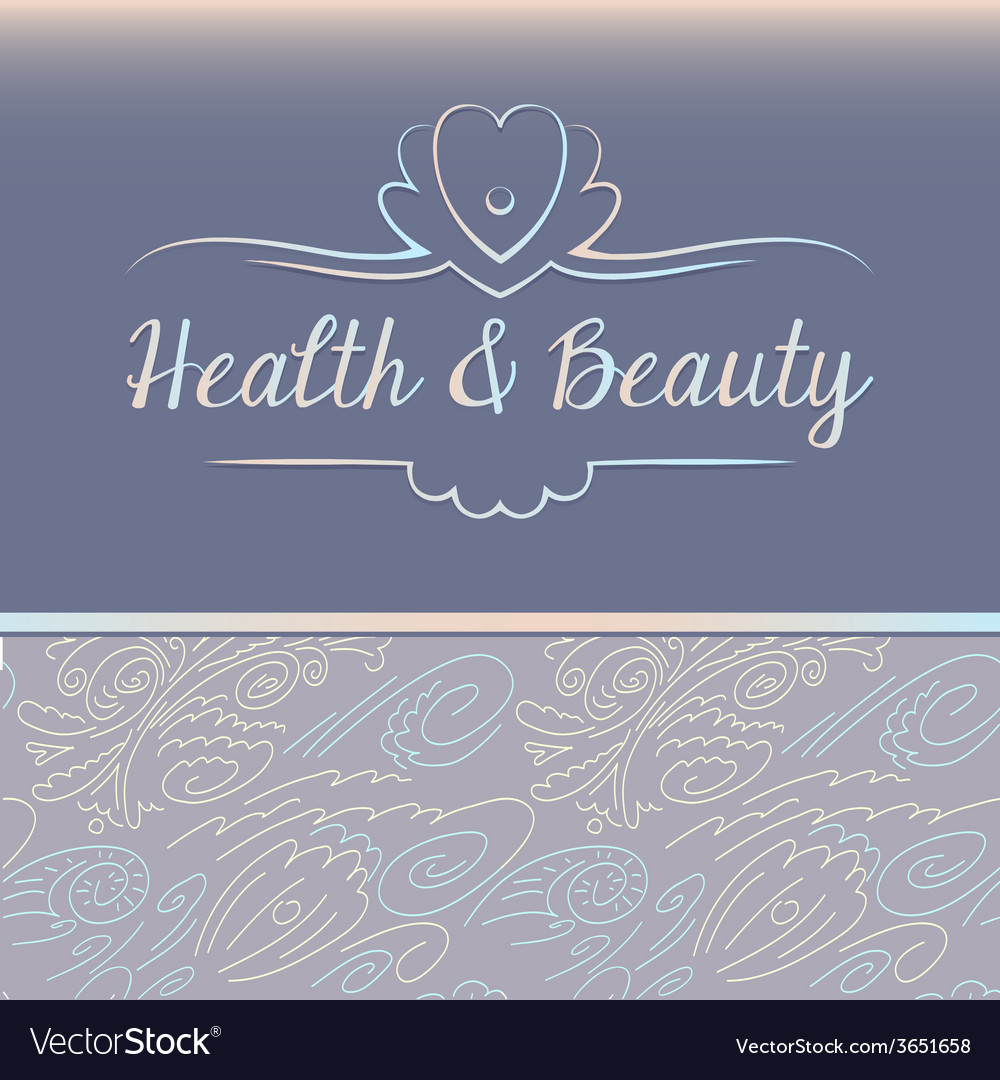 Logo depicting shells and pearls health and beauty vector | Price: 1 Credit (USD $1)