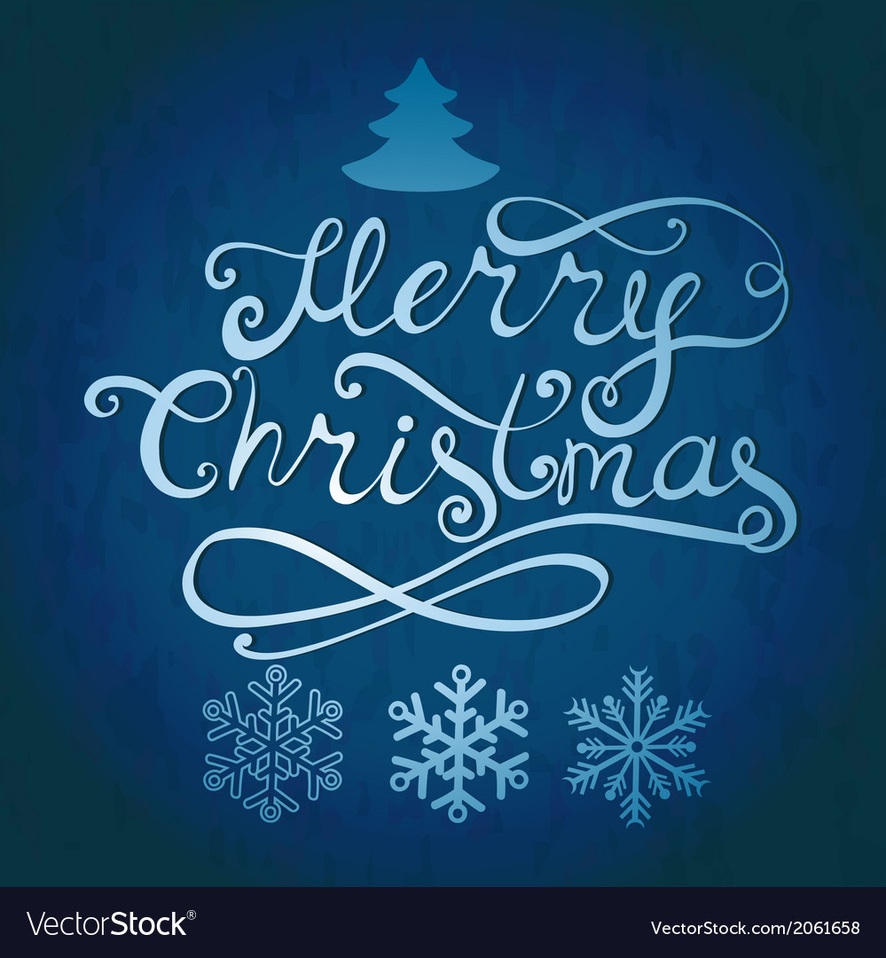 Merry christmas lettering greeting card with vector | Price: 1 Credit (USD $1)